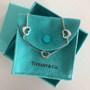 Tiffany & co Elsa Peretti 3 open heart necklace